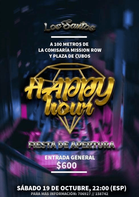 Fiesta de Apertura HappyHour Disco